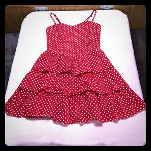 Red & White Polka Dot Sweetheart Sundress